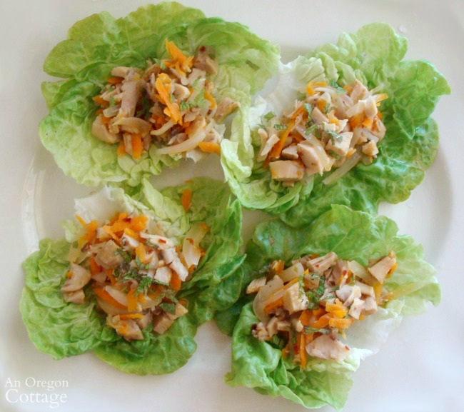 Chicken Lime Lettuce Wraps-quick weeknight meal