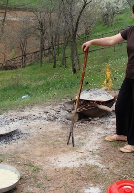 Making Flia {A National Dish of Kosovo}