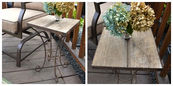 Barn Wood-Metal Side Table