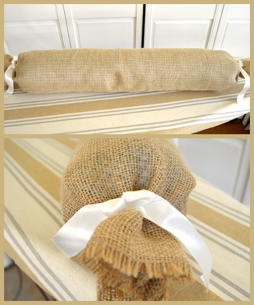 Burlap Bolster on An Oregon Cottage