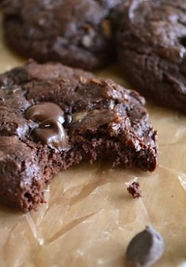 Fudgy Dark Chocolate Zucchini Cookies