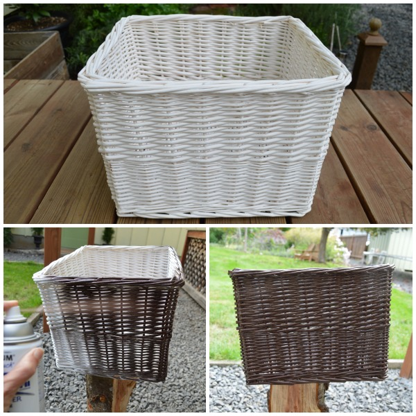 Painting a Thrift Store Basket