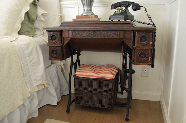 Vintage Sewing Machine Nightstand