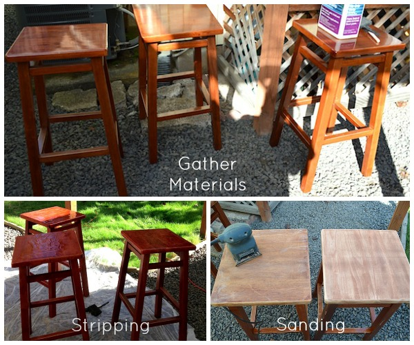 Bar Stool Makeover: Strip and Sand :: An Oregon Cottage