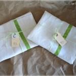 DIY Painted Linen Tea Towels - An Oregon Cottage