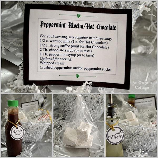 Peppermint Mocha-Hot Chocolate Gift Basket - An Oregon Cottage