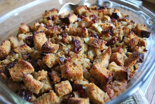 Sweet and Savory Sausage-Cranberry Stuffing Dressing - An Oregon Cottage