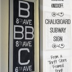 Chalkboard Subway Sign Restoration Hardware Knockoff - An Oregon Cottage