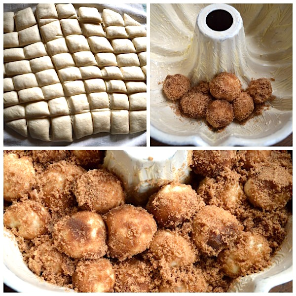 Coating Make Ahead Monkey Bread Dough - An Oregon Cottage