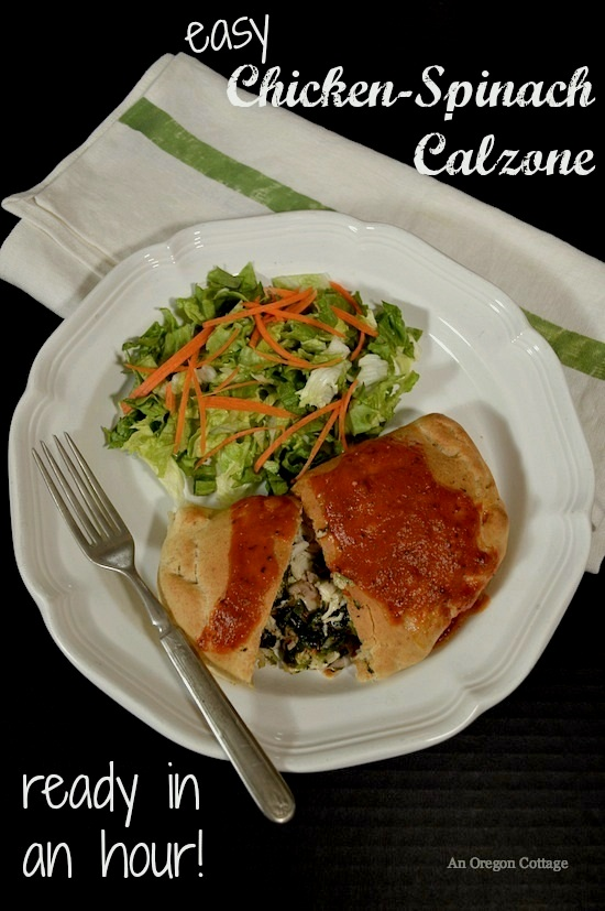 Easy Chicken-Spinach Calzone Ready in an Hour - An Oregon Cottage