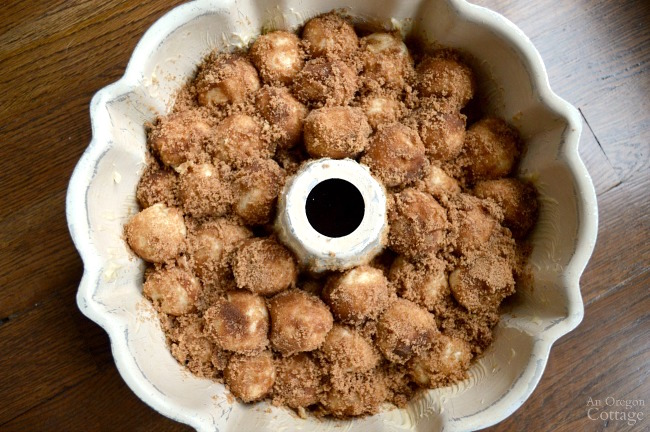 Make ahead monkey bread before the last rise