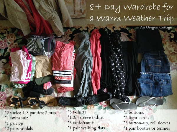 8-Day Wardrobe in One Carry On Suitcase - An Oregon Cottage
