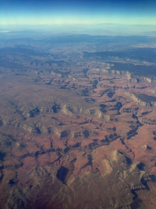 grand canyon from airplane - An Oregon Cottage