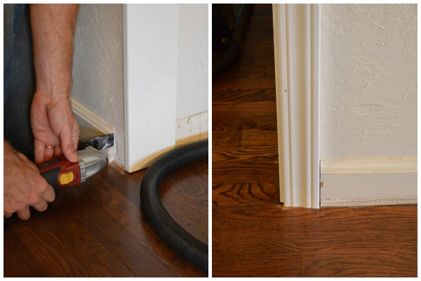 Adding a Frame to a Doorway - Cut Molding with Plunge Saw - An Oregon Cottage