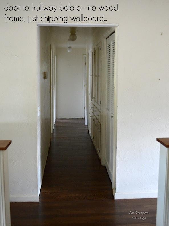 Hallway Door Before - An Oregon Cottage