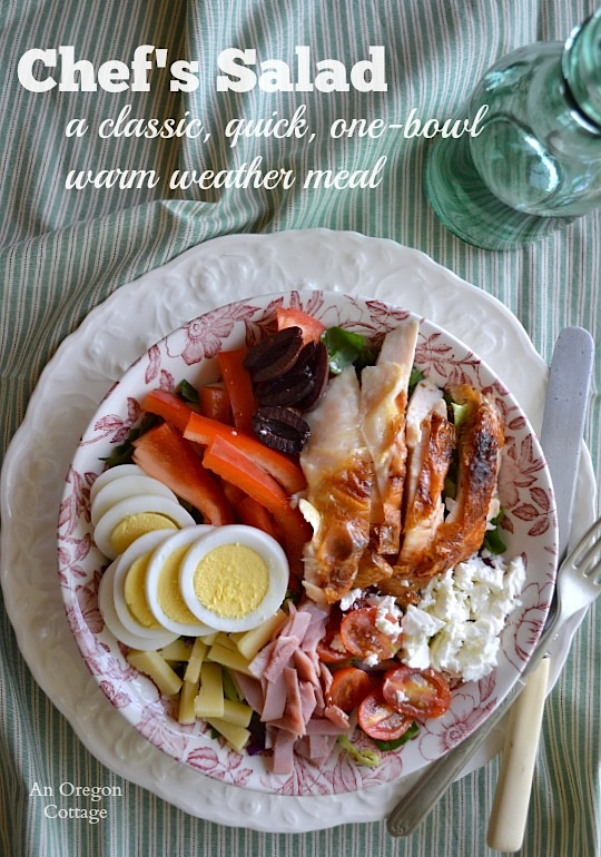 Chef's Salad-A Classic Quick One-Bowl Warm Weather Meal - An Oregon Cottage