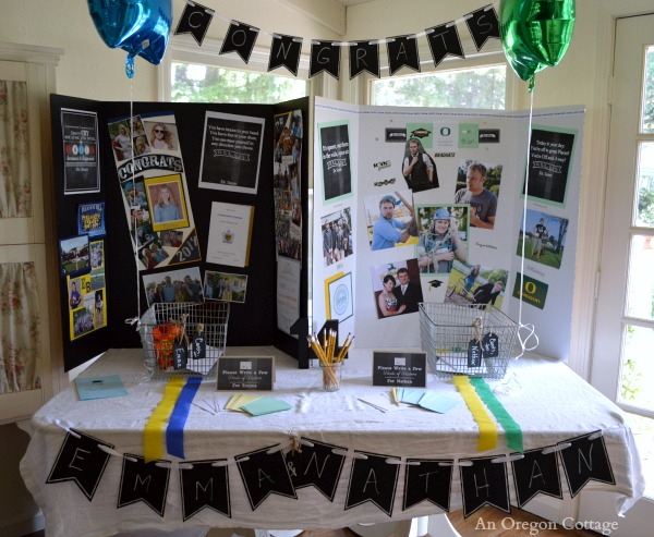 Chalkboard Graduation Memories and Cards Table - An Oregon Cottage