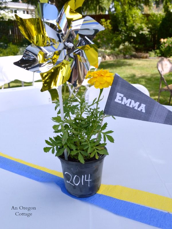 Dollar Store Chalkboard Graduation Party Centerpiece - An Oregon Cottage