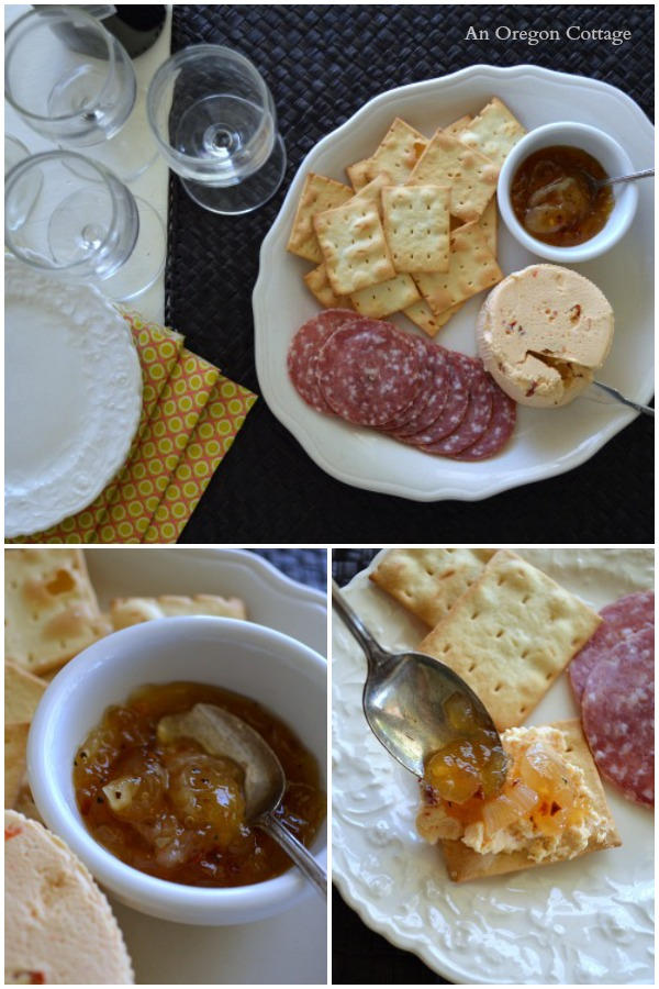 Sweet and Spicy Onion Marmalade Appetizer Plate - An Oregon Cottage