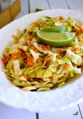 Spicy Cumin Lime Coleslaw