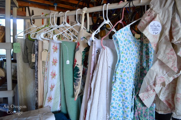 Garage Sale Tips:  Use Hangers - An Oregon Cottage