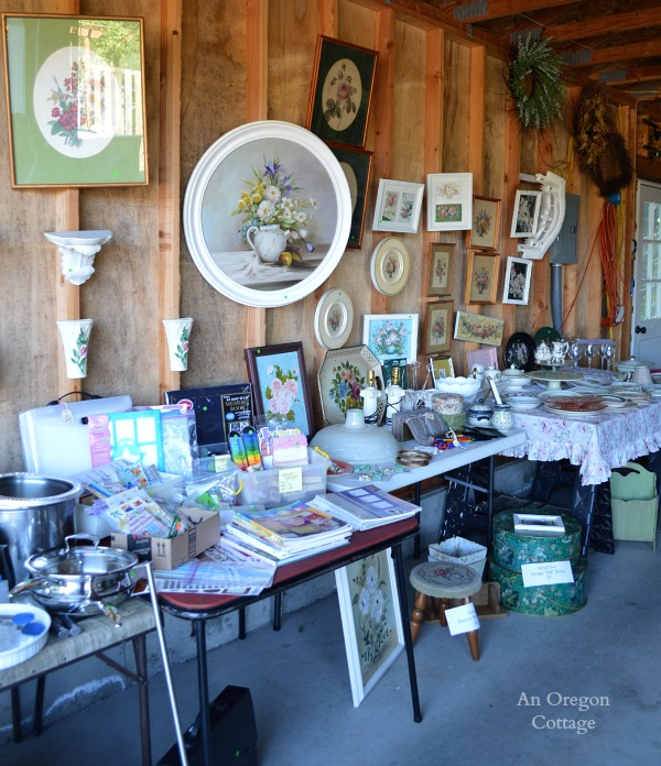 Garage Sale Tips:  Use Tables - An Oregon Cottage