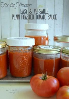 Easy Freezer Plain Roasted Tomato Sauce