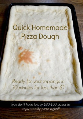 Make Quick Homemade Pizza Dough For Less Than $1