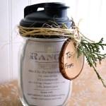 Mason Jar Gift-Ranch Salad Dressing with Printable Recipe Tag