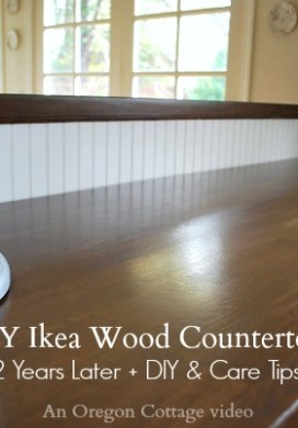 DIY Ikea Wood Butcher Block Countertops 2 Years Later Video