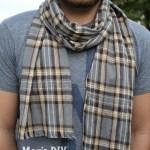 Easy, Low Sew Men's DIY Flannel Scarf
