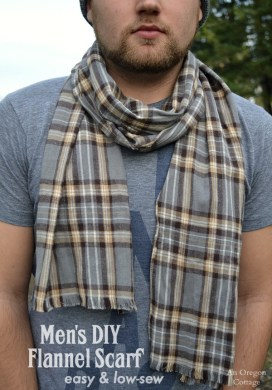 Easy, Low-Sew Men's DIY Flannel Scarf