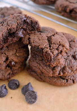 Flourless Chocolate Truffle Cookies {Grain-Free, Dairy-Free}