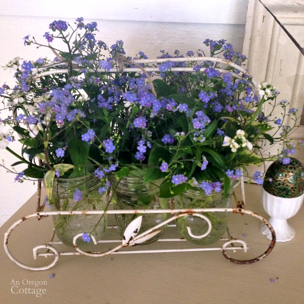 March Brunnera Flower Arrangement