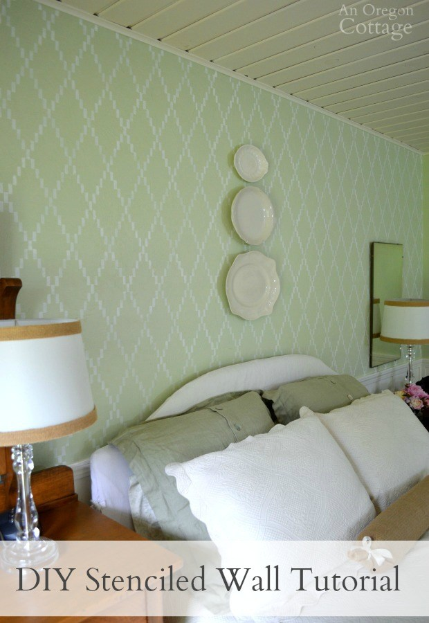 DIY Stenciled Accent Wall Tutorial- create an amazing focal point in just a few hours!