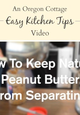 Kitchen Tip Video: Easy Way to Stir Natural Peanut Butter