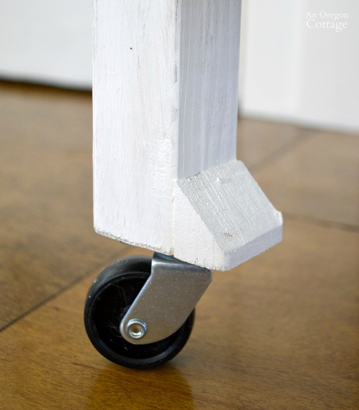 DIY Card Catalog Side Table Casters