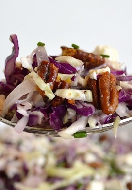 Shaved Cabbage Salad with Creamy Feta Vinaigrette
