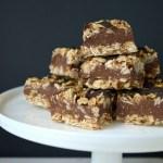 Healthy No Bake Fudge Oatmeal Bars {Gluten-Free}