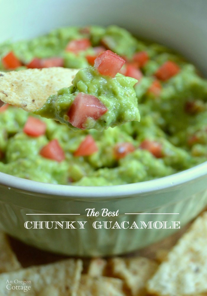 The Best Chunky Guacamole for dips, salads and toppings