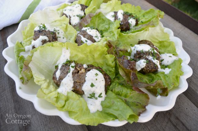 Grilled beef lettuce wraps with a garlic-yogurt sauce makes an easy family meal