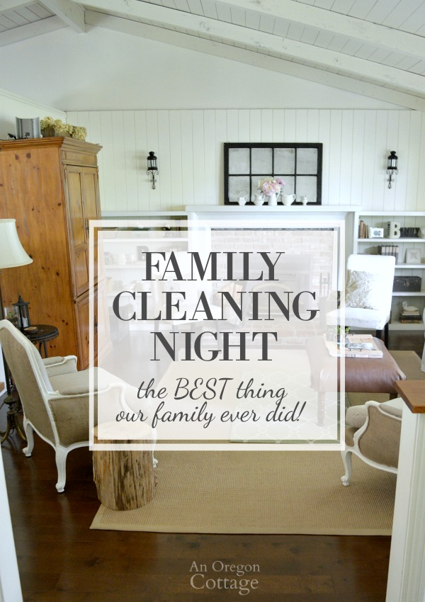 Family cleaning night was the BEST thing our family ever did-teach your kids while keeping your sanity!