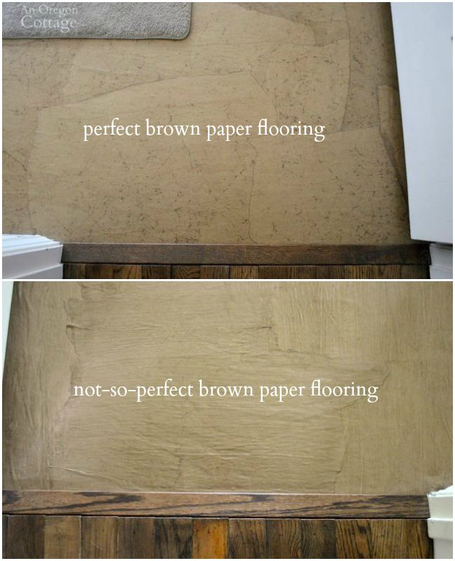 Brown Paper Flooring-perfect and not-so-perfect