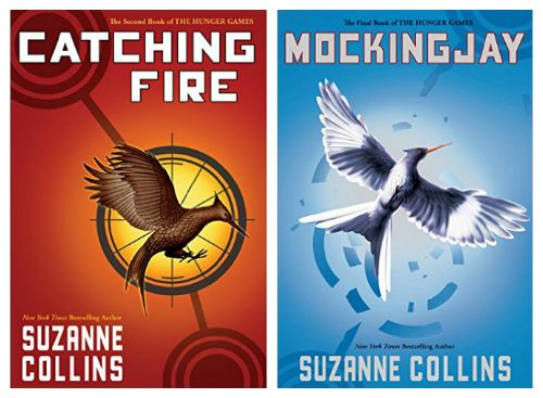 Catching Fire and Mocking Jay Book Covers