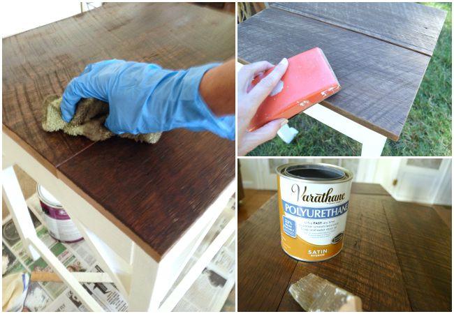 DIY Nesting Tables-Finishing Reclaimed Barn Wood Tops