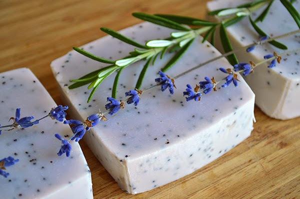Lavender rosemary hand soap via Lovely Greens