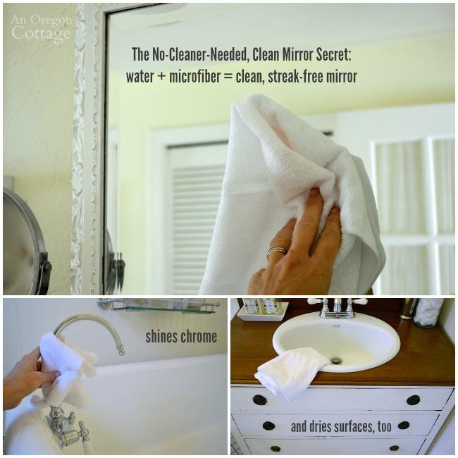 Microfiber-Mirror Cleaning Secret