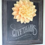 Wood Cone Wreath Thanksgiving Chalkboard