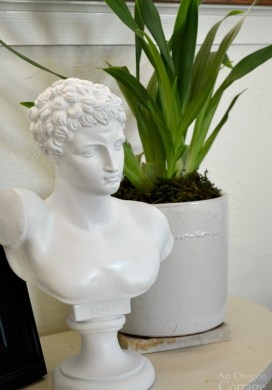 Thrifted Classical Bust Statue Makeover