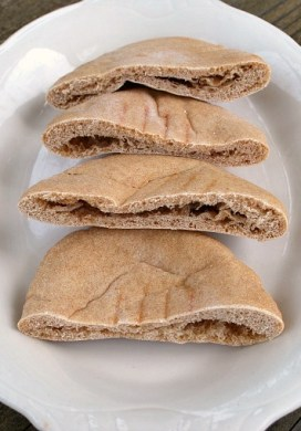 Homemade Whole Grain Pita Bread